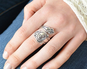 Anchor Spoon Ring, Nautical Spoon Rings, Silver Spoon Rings, spoon jewelry, gifts for her