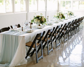 Romantic Chiffon Table Runner