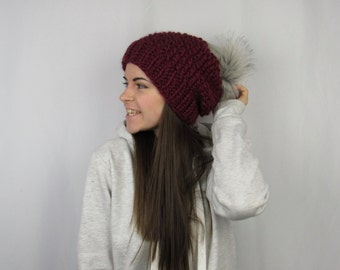 FLASH SALE The Whitaker Beanie in Burgundy by Morthunder
