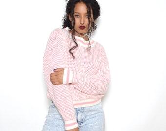 Vintage 80's Diane Von Furstenberg Pastel Pink Knit Sweater Sz M