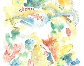 Abstract Watercolour #6 - Original Painting