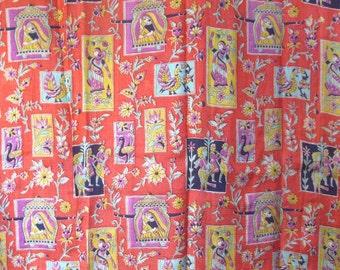 Vintage Sari Silk 5 Yards Soft Printed Material