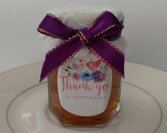 SPRING IS SWEET Jam Favors/ Thank You Favors/25 Two Oz Mini Jams/ Engagement Party Favors/ Bridal or Baby Shower/ Anniversary/2 oz Each