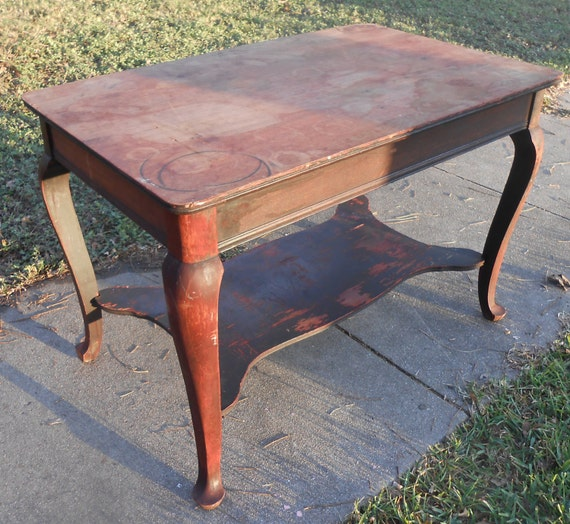 Like this item? - Antique Mahogany Library Table Victorian Writing Desk Queen