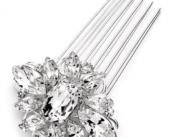 Crystal Bridal Comb, Wedding Hair Comb, Rhinestone Hair Comb, Bridal Hair Comb, Bridal Comb, Silver Comb, Bridal Hair Accessory ~TC-2253