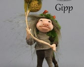 OOAK Troll Art Doll Sculpture - Gipp -  by Ksheyna Nightswood