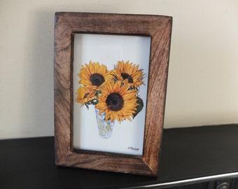 Sunflowers framed art print painting