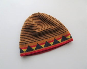 90s Patagonia Hat, Retro Beanie, Unisex Winter Toque, Snow Ski Hat