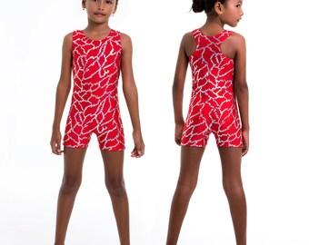Gymnastics leotard pattern, dance sewing pattern, unitard sewing pattern, girls leotard pattern PDF, UNITARD #4