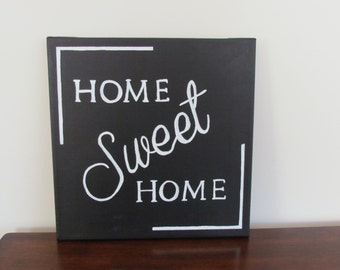 Home Sweet Home  Canvas  - 12 x12""