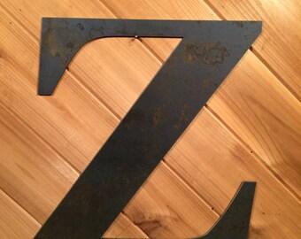 Large Metal Letter Z Large Letter Signing  Etsy