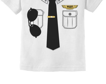 Pilot Halloween Costume Youth Short Sleeve T-Shirt