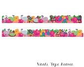 Alpacas and Roses Washi Tape - Kayo Horaguchi Polka Dot Alpacas Garden Tea Party - 15mm x 10m