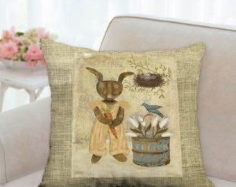 Country Rustic Easter Pillow