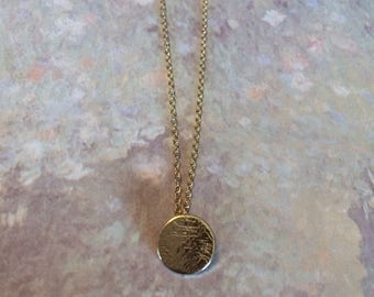 Disc Necklace - Disc Pendant - Round Necklace - Round Pendant Necklace - Round Pendant - Circle Necklace - Circle Necklace Gold - Necklace
