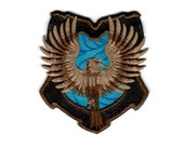 "Harry Potter ""Ravenclaw"" Hogwarts House Crest Inspired - Embroidered Iron-on Patch"