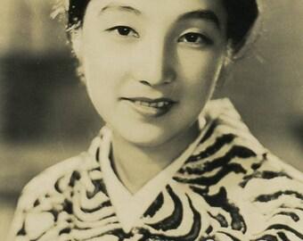 Beautiful Japanese woman antique photo