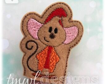 Cinderella Mouse A Finger Puppet Toy Digital Design File