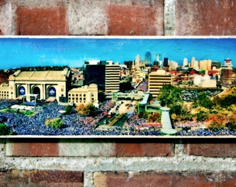 "5""x16"" Photo Transferred onto Wood ""Royals World Series Parade"" (Free Shipping)"