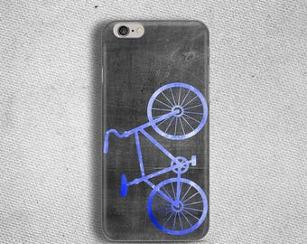 Durable rubber case for iPhone 6 Blue bicycle case for iPhone 6s Slim cover for iPhone 6 Plus Elastic case for iPhone se bike lover