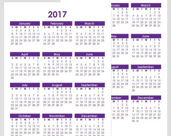 2017 & 2018 and other Yearly Calendars - A4 - 210 x 297 mm