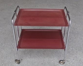 Mid Century Modern Serving Troley / Gerlinol 33 Style Folding Troley / Mad  Men Furniture /