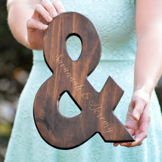 Personalized ampersand sign wood ampersand farmhouse decor for Ampersand decoration etsy