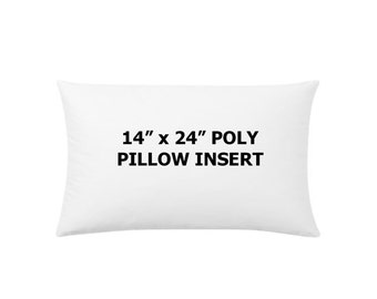 14x24 or 16x24 or 18x22 or 18x24 Ultimate Poly pillow insert for Jlarc Studio, lumbar pillow insert