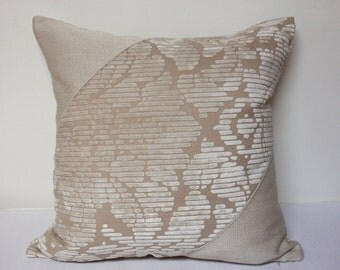 18x18 Beige Pillow cover, beige pillow cover, modern pillow, modern beige pillow