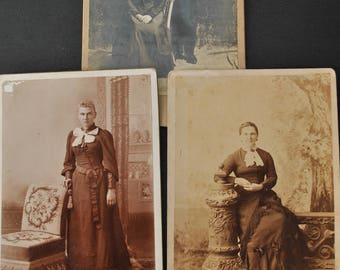 Lot of Three Victorian Cabinet Cards Portraits