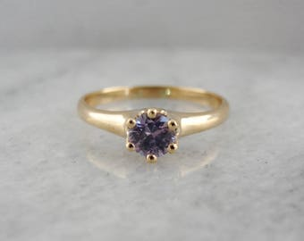 Lilac Sapphire Solitaire, Purple Sapphire Ring, Promise or Engagement Ring, Affordable Engagement Ring 8UM5P7-P