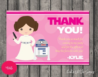 Starwars Princess Leia Thank You Digital Download