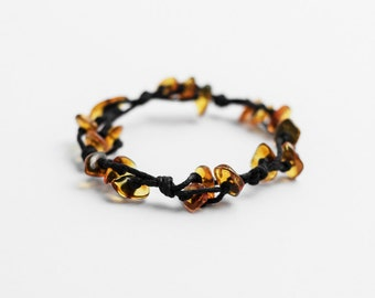 Honey amber bracelet / Genuine baltic amber