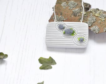jardn zen colgante collar v miniatura japons roca jardn colgante