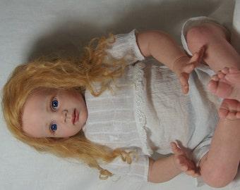 Goldilocks Reborn Baby Doll Silicone Vinyl Soft body Toddler Doll 26 inch