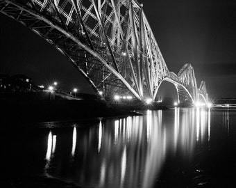 Forth Rail Bridge // Scotland // Firth of Forth // Railway Bridge // Fine Art Print // Black and White Photograph // Wall Art // Decor