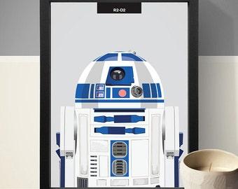 Star Wars R2D2 Poster - R2D2 Print, Star Wars Poster