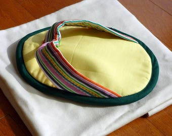 Flip Flop Pot Holder - Yellow/Multi Stripes