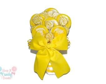 Yellow Lollipop Wedding Bouquet, Lollipop Bouquet, Yellow, Candy Bouquet, Yellow Bouquet, Summer Wedding, Bridal Bouquet, Bride