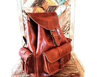 Leather Backpack, Leather Bag, Leather Rucksack, Men / Women backpack