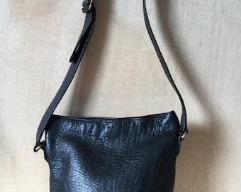 Vintage Coach Sonoma Black Pebbled Leather Bucket Bag Tote high Fashion