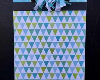 Blue and Green Triangle Clipboard