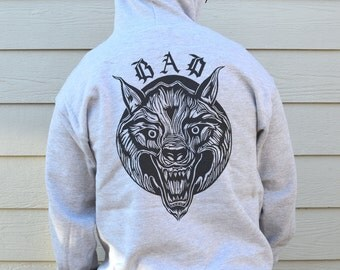 Bad Wolf Hoody, Mens Hoody, available in S, M, L And XL