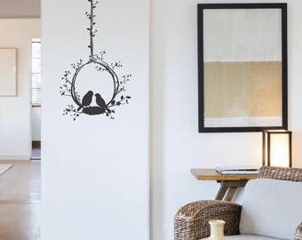 Bird Nest Wall Sticker Decal Home Decor Vinyl
