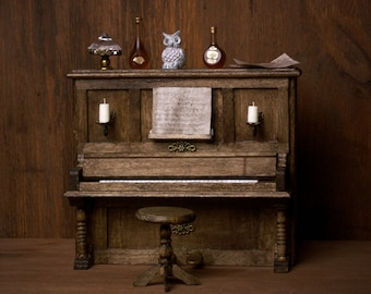 Vintage Miniature Piano for your Dollhouse