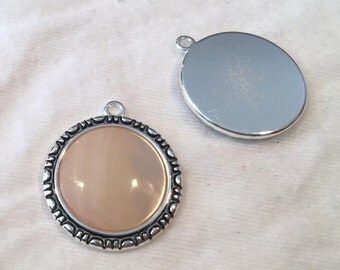 Natural Mother of Pearl Pendant, Silver or Gold