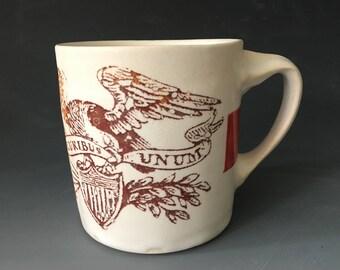 E Pluribus Unum Mug with Red Stripe