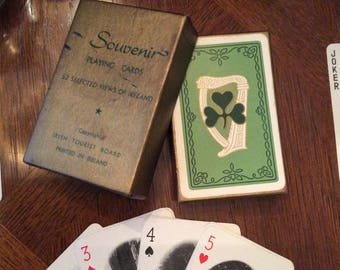 52 Selected Views of IRELAND Mid Century Souvenir Playing Cards PICTORIAL