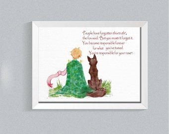 """Shop """"the little prince"""" in Art & Collectibles"""
