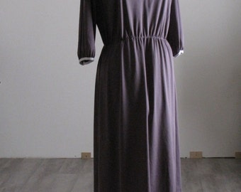 Vintage Women's 1970's Purple Lavender 3/4 Sleeve Dress - Size Medium